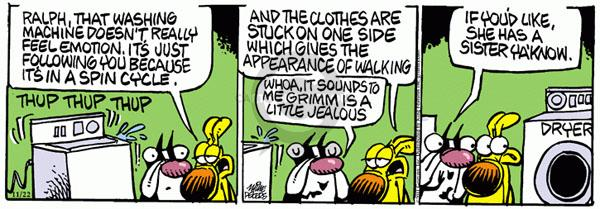 Comic Strip Mike Peters  Mother Goose and Grimm 2011-11-22 machine