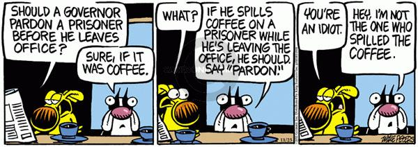 Cartoonist Mike Peters  Mother Goose and Grimm 2011-11-25 idiot