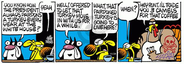 Comic Strip Mike Peters  Mother Goose and Grimm 2011-11-28 yeah