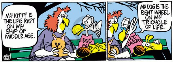 Comic Strip Mike Peters  Mother Goose and Grimm 2011-12-02 cat dog