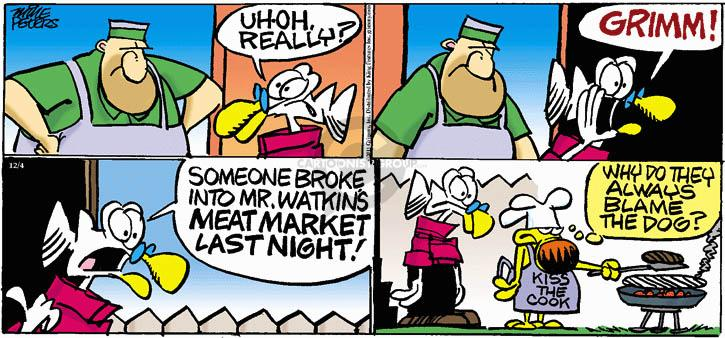 Comic Strip Mike Peters  Mother Goose and Grimm 2011-12-04 blame dog