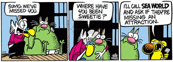Comic Strip Mike Peters  Mother Goose and Grimm 2011-12-06 affection