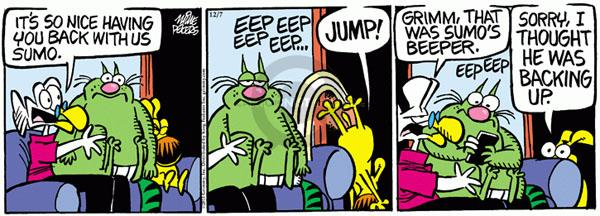 Comic Strip Mike Peters  Mother Goose and Grimm 2011-12-07 jump