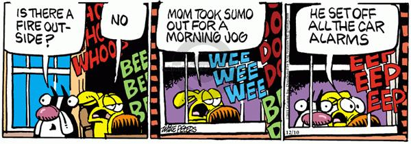 Cartoonist Mike Peters  Mother Goose and Grimm 2011-12-10 alarm
