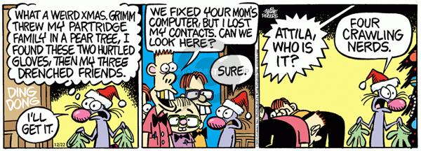 Cartoonist Mike Peters  Mother Goose and Grimm 2011-12-22 repair