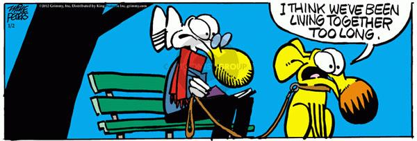 Comic Strip Mike Peters  Mother Goose and Grimm 2012-01-02 similar