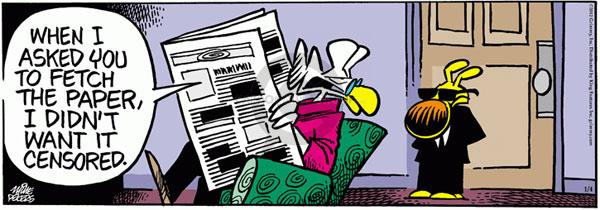 Comic Strip Mike Peters  Mother Goose and Grimm 2012-01-04 civil liberty