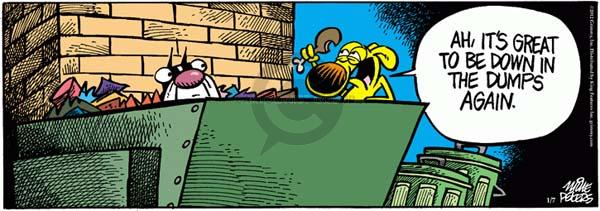 Comic Strip Mike Peters  Mother Goose and Grimm 2012-01-07 food