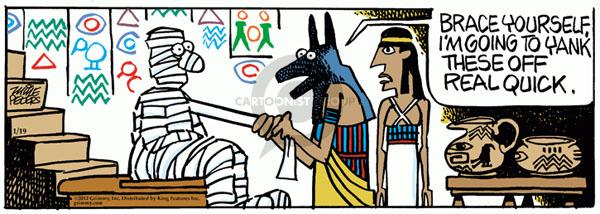 Cartoonist Mike Peters  Mother Goose and Grimm 2012-01-19 pharaoh