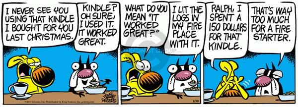 Comic Strip Mike Peters  Mother Goose and Grimm 2012-01-30 tech