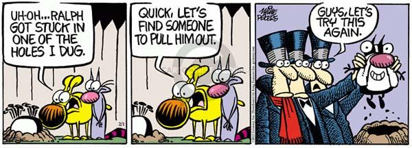 Cartoonist Mike Peters  Mother Goose and Grimm 2012-02-01 hole in one