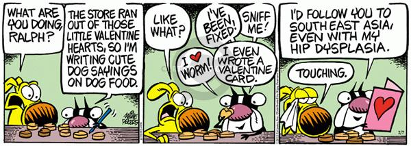 Comic Strip Mike Peters  Mother Goose and Grimm 2012-02-07 heart