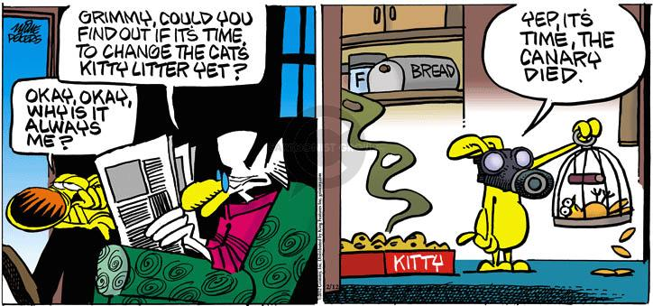 Cartoonist Mike Peters  Mother Goose and Grimm 2012-02-12 box
