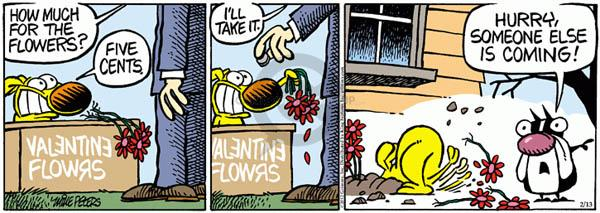 Cartoonist Mike Peters  Mother Goose and Grimm 2012-02-13 flower
