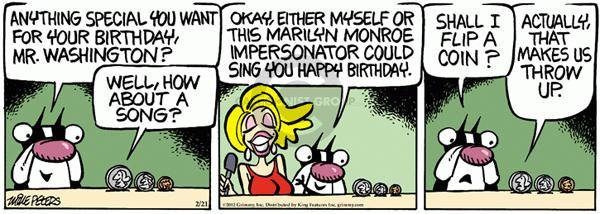 Cartoonist Mike Peters  Mother Goose and Grimm 2012-02-21 president