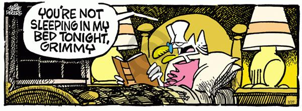 Comic Strip Mike Peters  Mother Goose and Grimm 2012-02-27 bed