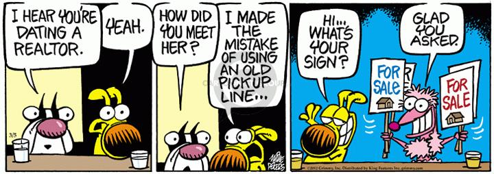 Comic Strip Mike Peters  Mother Goose and Grimm 2012-03-05 pickup line
