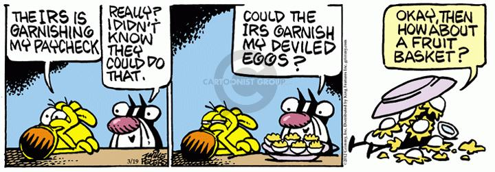 Cartoonist Mike Peters  Mother Goose and Grimm 2012-03-19 IRS