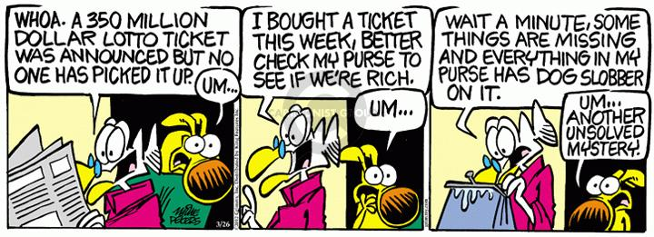Comic Strip Mike Peters  Mother Goose and Grimm 2012-03-26 purse