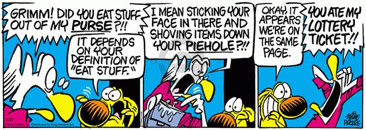 Comic Strip Mike Peters  Mother Goose and Grimm 2012-03-27 content