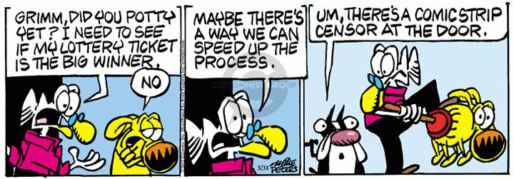 Comic Strip Mike Peters  Mother Goose and Grimm 2012-03-31 speech