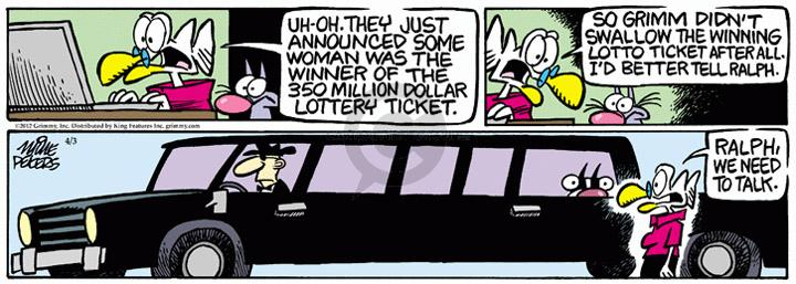 Comic Strip Mike Peters  Mother Goose and Grimm 2012-04-03 passenger