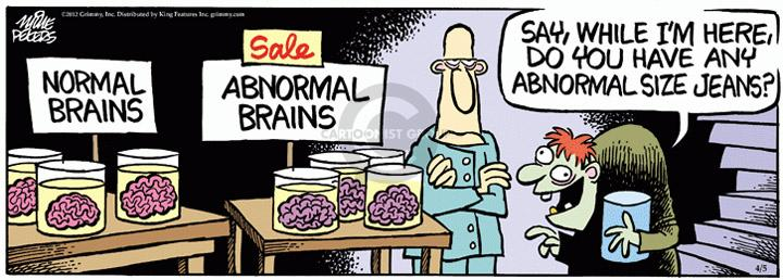 Comic Strip Mike Peters  Mother Goose and Grimm 2012-04-05 abnormal