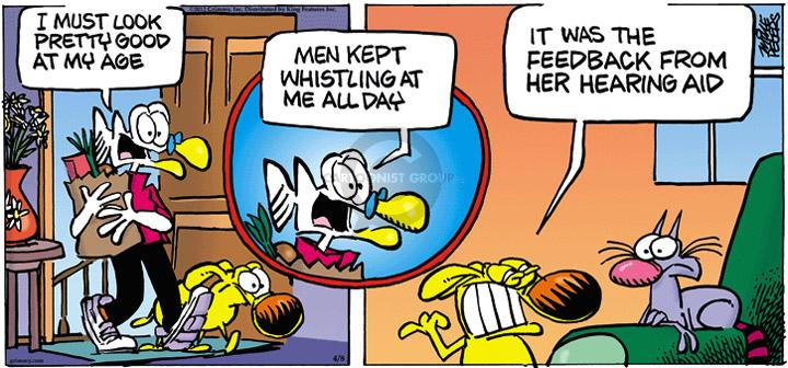 Comic Strip Mike Peters  Mother Goose and Grimm 2012-04-08 appearance