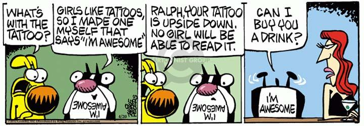 Comic Strip Mike Peters  Mother Goose and Grimm 2012-04-20 tattoo