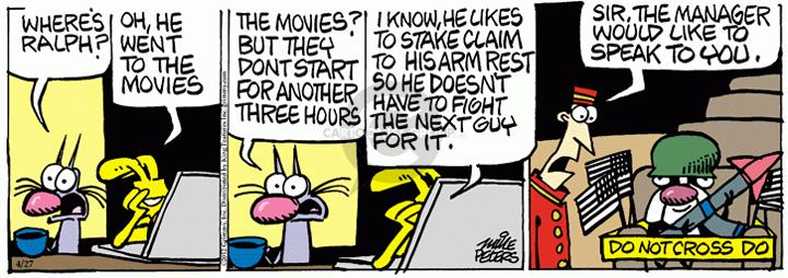 Comic Strip Mike Peters  Mother Goose and Grimm 2012-04-27 movie theater