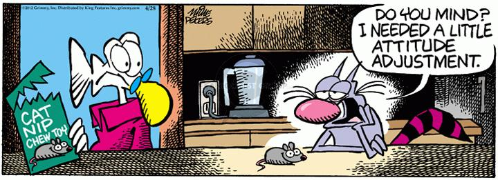Comic Strip Mike Peters  Mother Goose and Grimm 2012-04-28 cat behavior