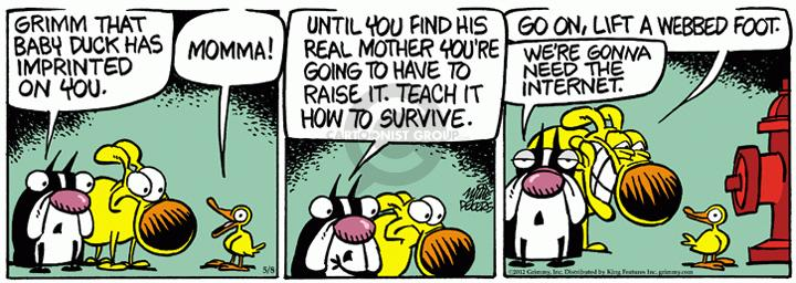 Comic Strip Mike Peters  Mother Goose and Grimm 2012-05-08 child behavior