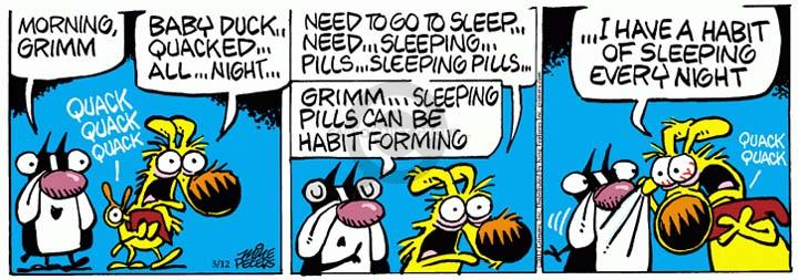 Comic Strip Mike Peters  Mother Goose and Grimm 2012-05-12 asleep