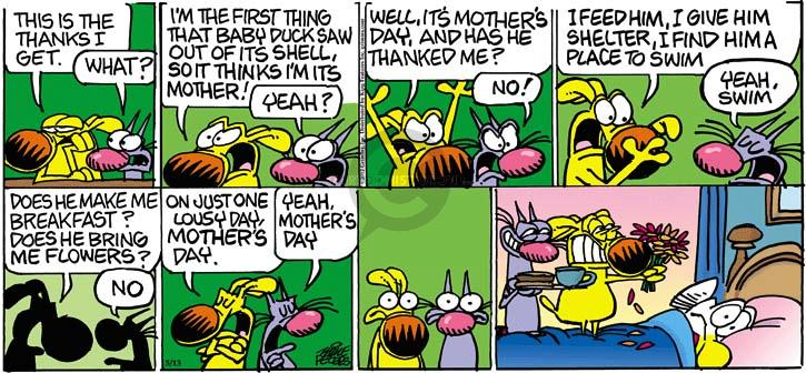Cartoonist Mike Peters  Mother Goose and Grimm 2012-05-13 flower