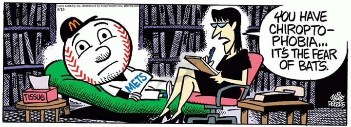 Comic Strip Mike Peters  Mother Goose and Grimm 2012-05-15 baseball bat
