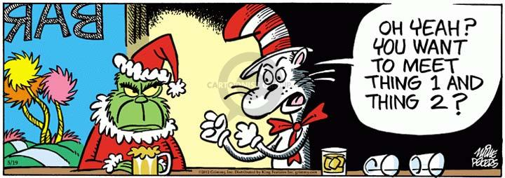 Cartoonist Mike Peters  Mother Goose and Grimm 2012-05-19 taunt