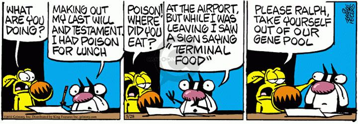 Comic Strip Mike Peters  Mother Goose and Grimm 2012-05-28 lunch
