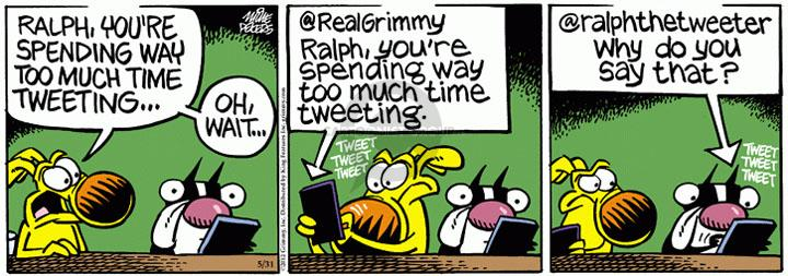 Comic Strip Mike Peters  Mother Goose and Grimm 2012-05-31 online communication