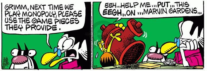 Comic Strip Mike Peters  Mother Goose and Grimm 2012-06-04 playing