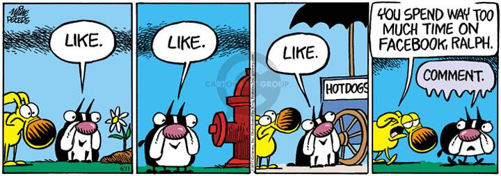 Comic Strip Mike Peters  Mother Goose and Grimm 2012-06-11 Facebook like