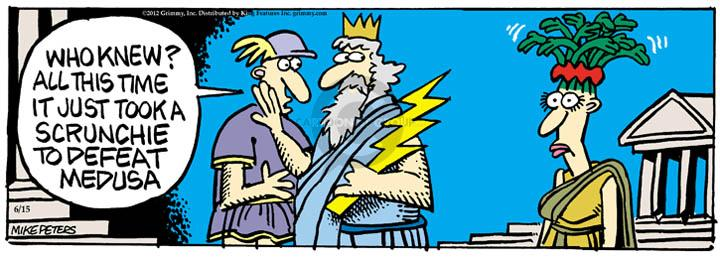 Comic Strip Mike Peters  Mother Goose and Grimm 2012-06-15 myth
