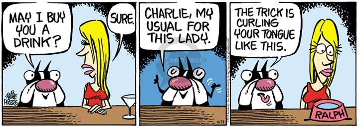 Comic Strip Mike Peters  Mother Goose and Grimm 2012-06-21 drinking water