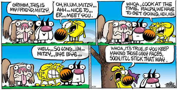 Comic Strip Mike Peters  Mother Goose and Grimm 2012-06-24 shape