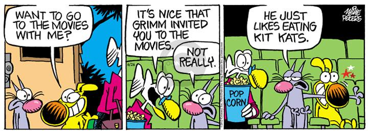 Comic Strip Mike Peters  Mother Goose and Grimm 2012-06-26 dog and cat