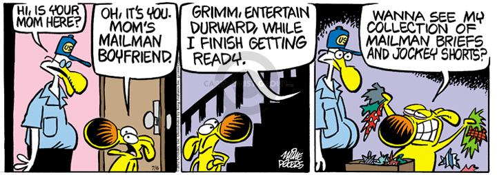Comic Strip Mike Peters  Mother Goose and Grimm 2012-07-06 antagonism