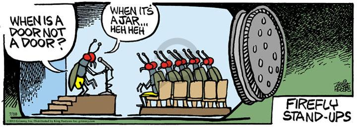 Comic Strip Mike Peters  Mother Goose and Grimm 2012-07-10 heh