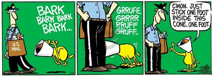 Cartoonist Mike Peters  Mother Goose and Grimm 2012-07-26 carrier