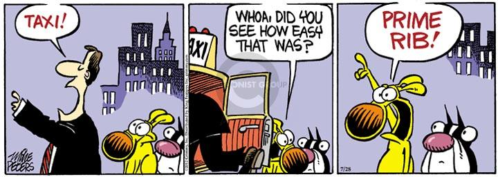 Comic Strip Mike Peters  Mother Goose and Grimm 2012-07-28 whoa
