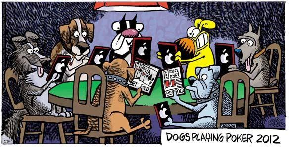 Cartoonist Mike Peters  Mother Goose and Grimm 2012-07-29 art