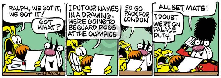 Comic Strip Mike Peters  Mother Goose and Grimm 2012-07-30 guard dog